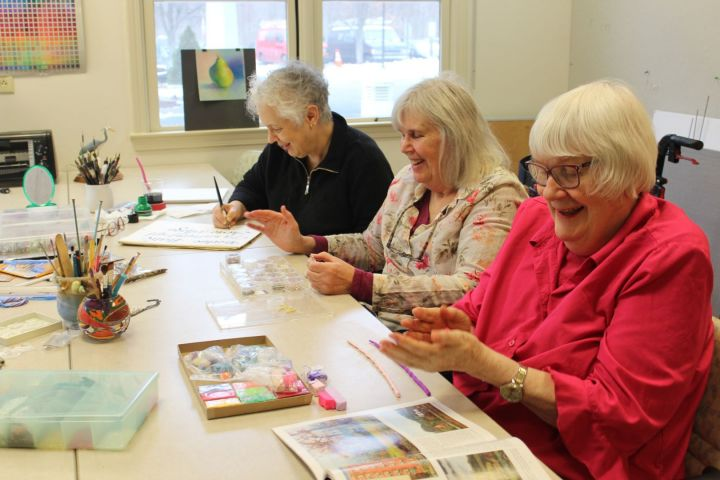 Create art with neighbors and friends in our art studio!