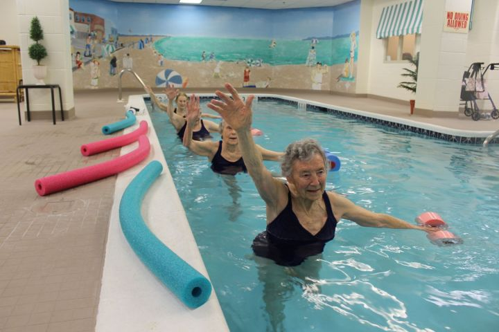 Get moving in the water with our aquasize classes
