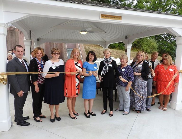 The Sisters' Project as they cut the ribbon